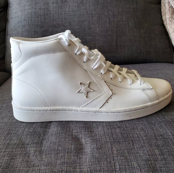 Converse Shoes | White Leather Mens